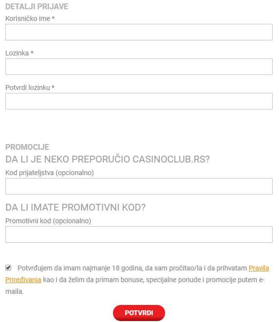 CasinoKlub Registracija